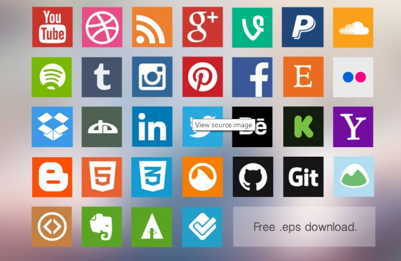 Download social media icons