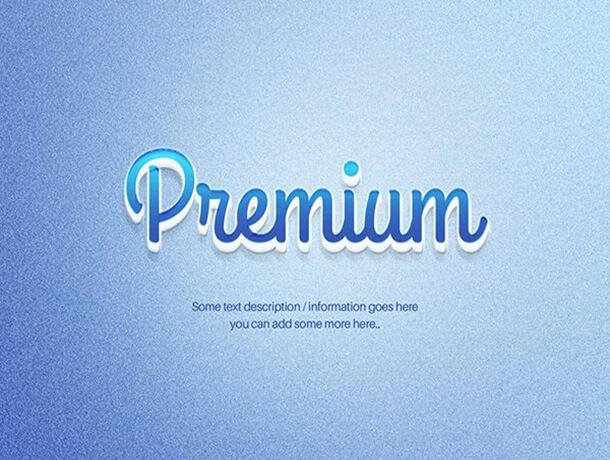 3D Blue Text Best Free