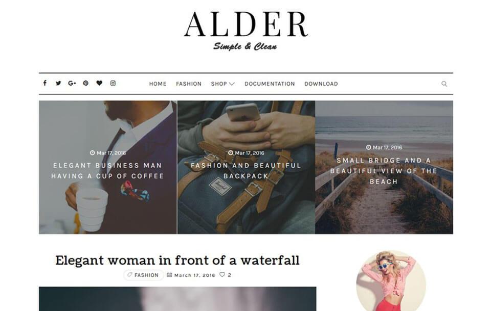 Alder Responsive Blogger Template