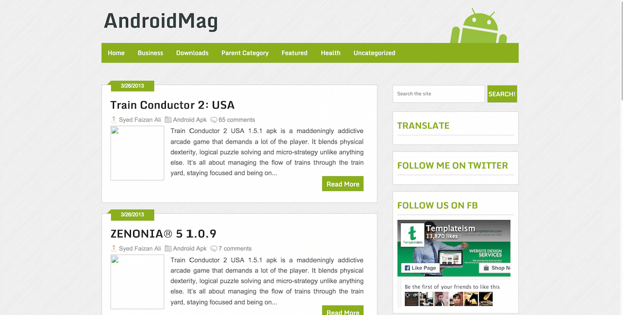 AndroidMag Free Responsive