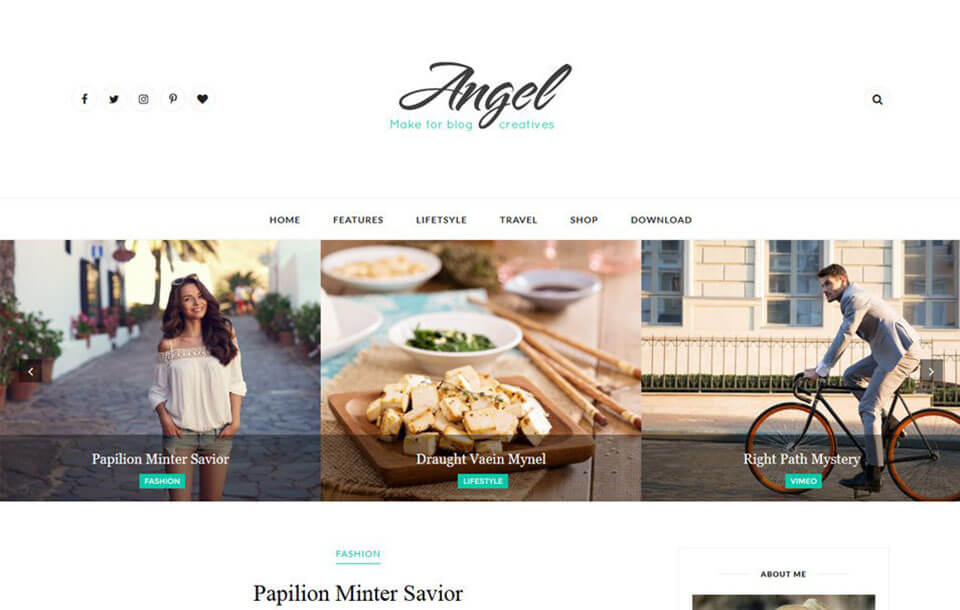 Angel Responsive Blogger Template