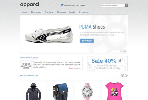 Apparel and CLothes Fashion Theme