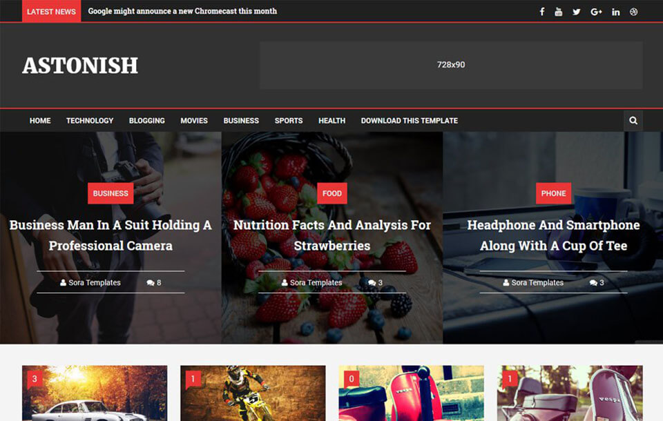 Astonish Responsive Blogger