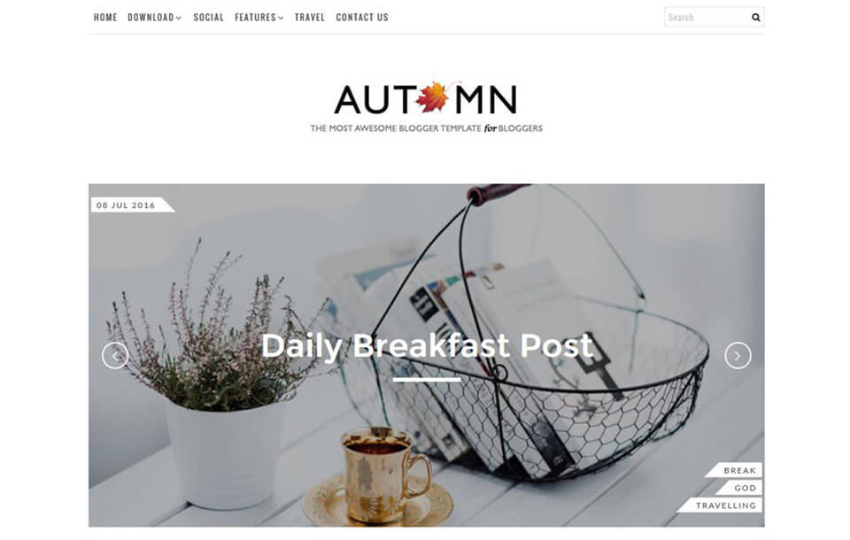 Autumn Best Free Responsive Blogger Template
