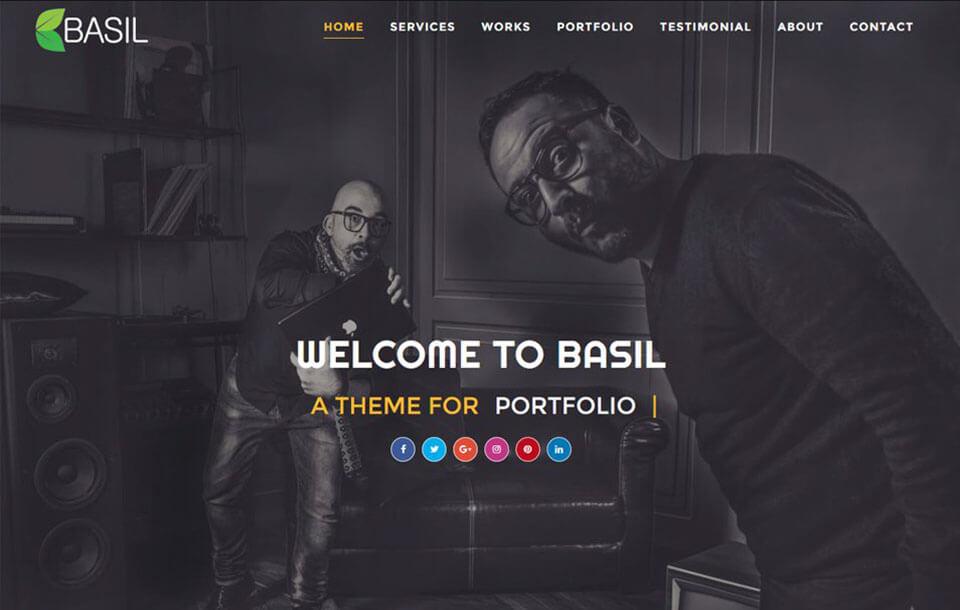 Basil Portfolio Best Free Responsive Blogger