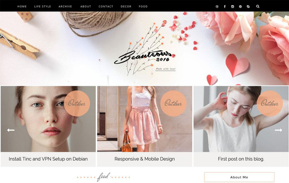 Beauteous Best Free Responsive