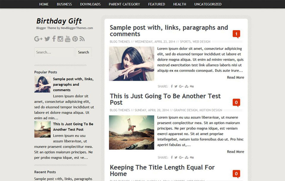 Birthday Gift Best Free Responsive