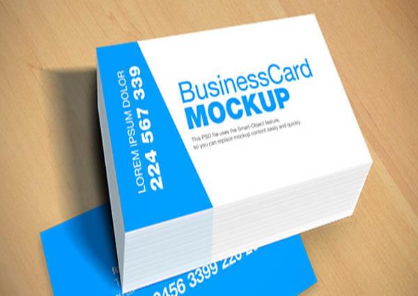Blue Card Mockup