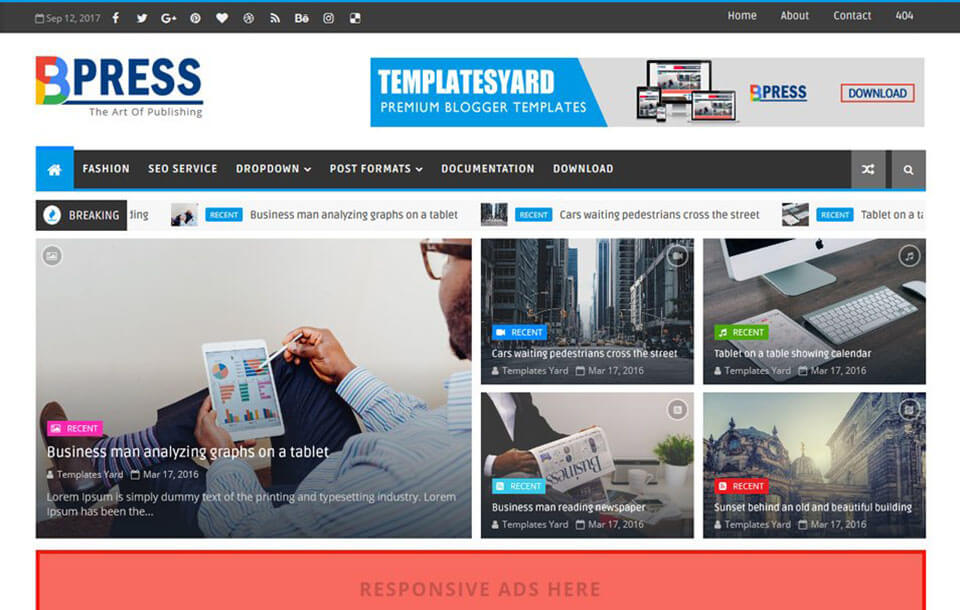 Bpress Blogger Template