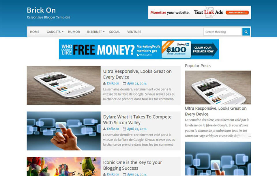 BrickOn Best Free Responsive