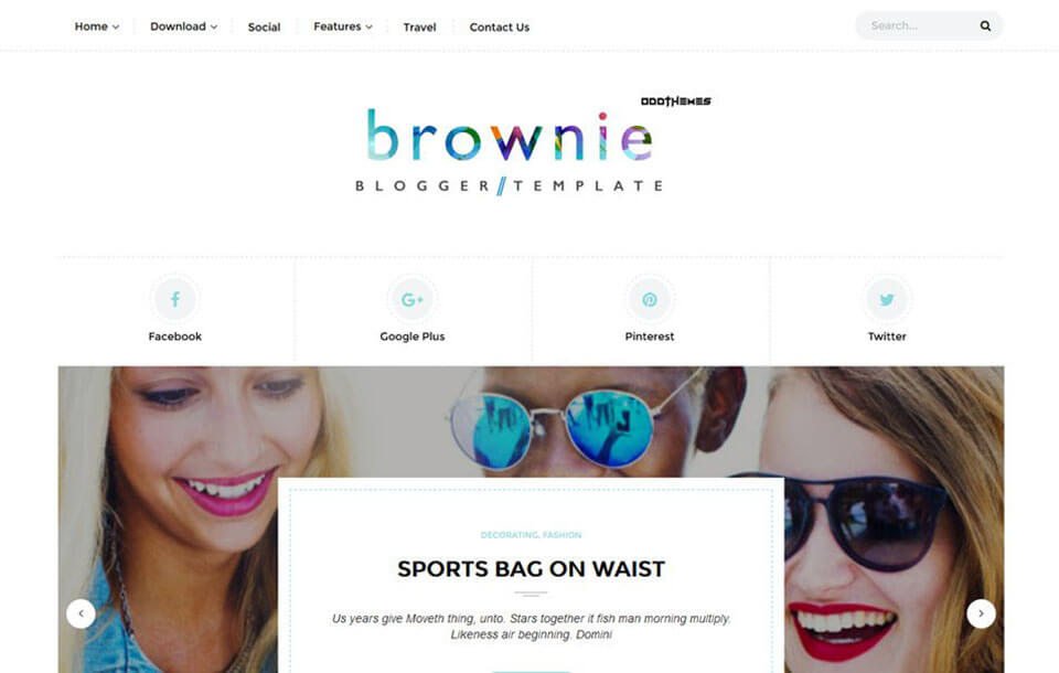 Brownie Best Free Responsive Blogger