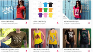 Bunch Shirt Best Free T Shirt PSD 300x168