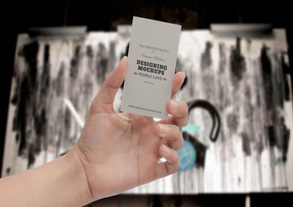 Business Card Hand Free PSD