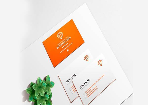 Business Card Mockup PSD 3