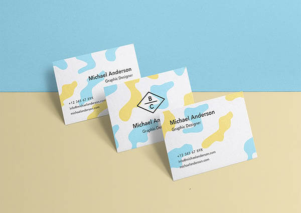 Business Card Mockup PSD 5