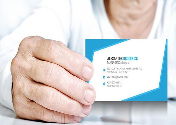 Business Card Mockup PSD3