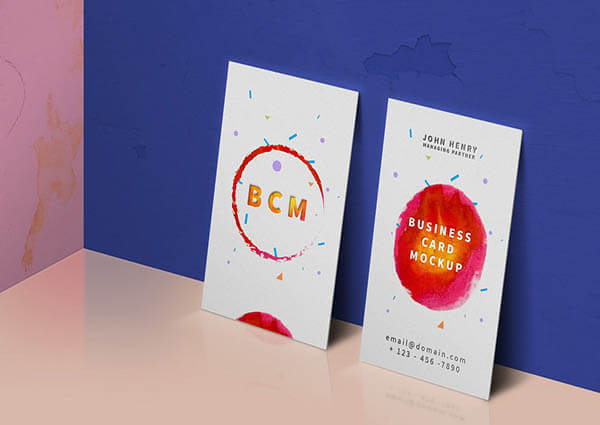 Business Card Mockup PSD5