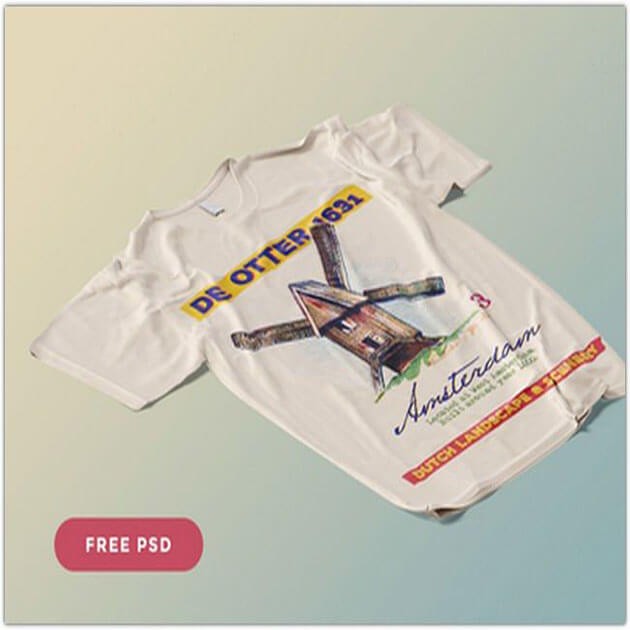 T-Shirt PSD Mockup Templates