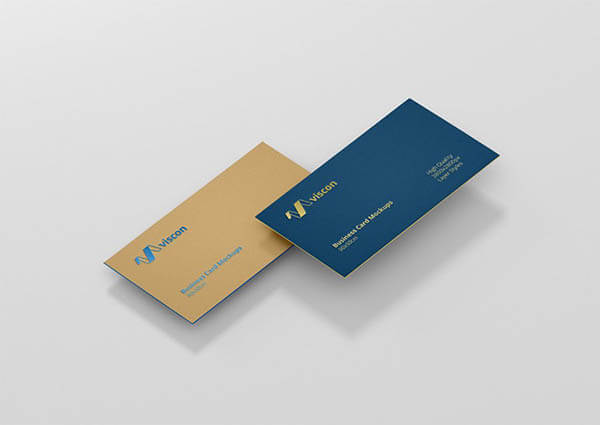 Double Color Card Mockup