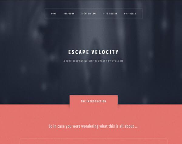 Escape Velocity Responsive HTML5 1