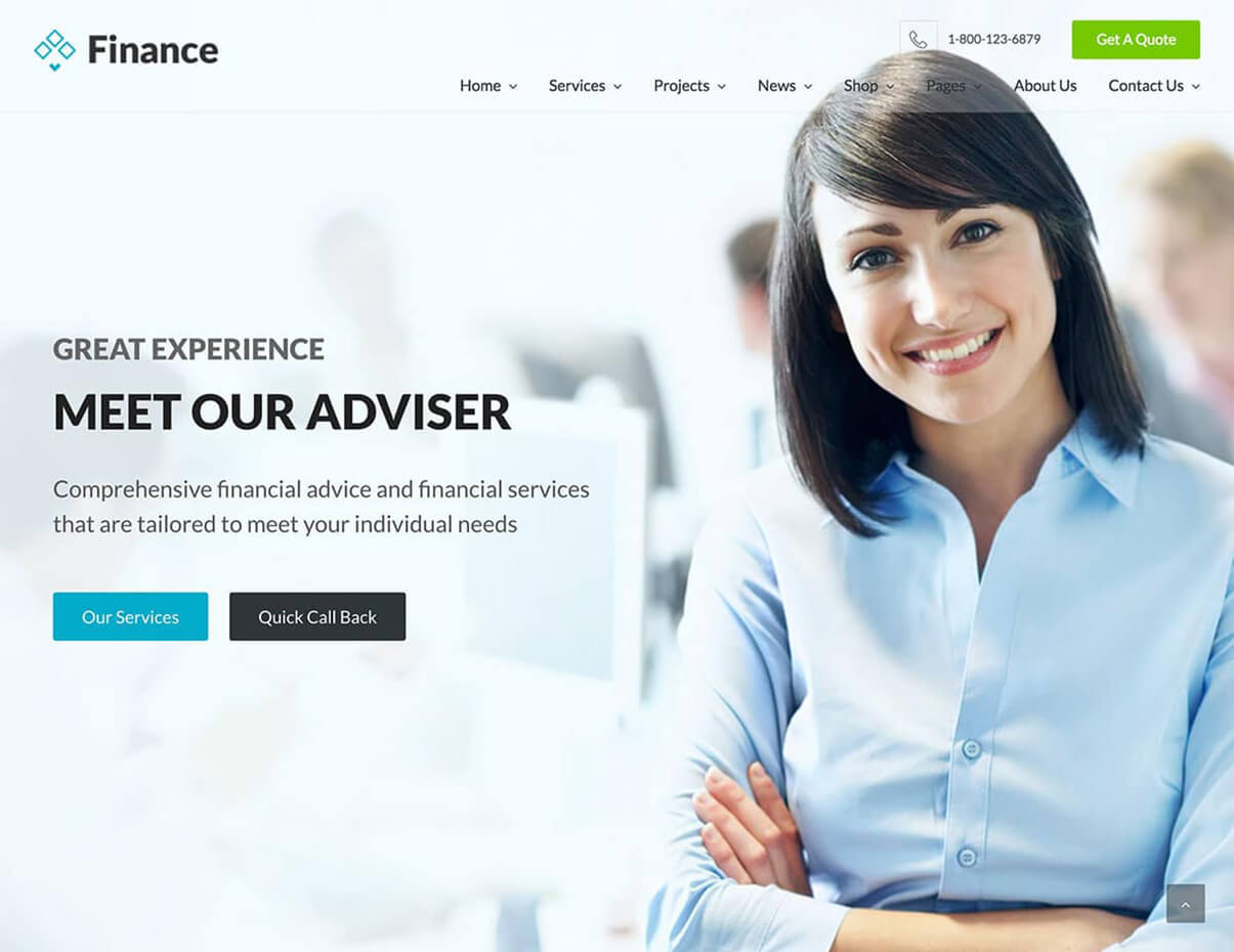 Finance WordPress Responsive Insurance