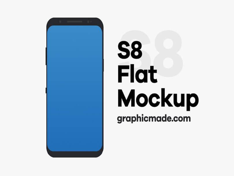 Flat Mockup Galaxy S8