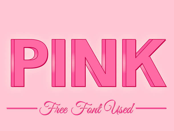 Free 3D Pink Free Photoshop