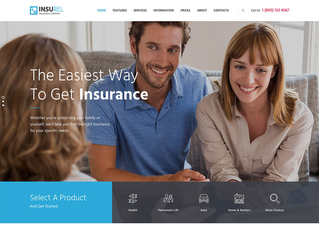 InsuRel Insurance WordPress