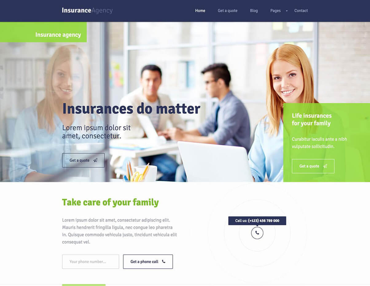 Insurance WordPress Responsive Insurance
