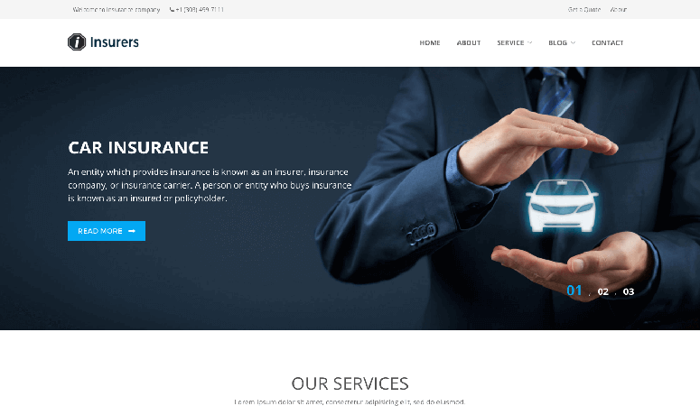 Insurers Responsive Insurance WordPress