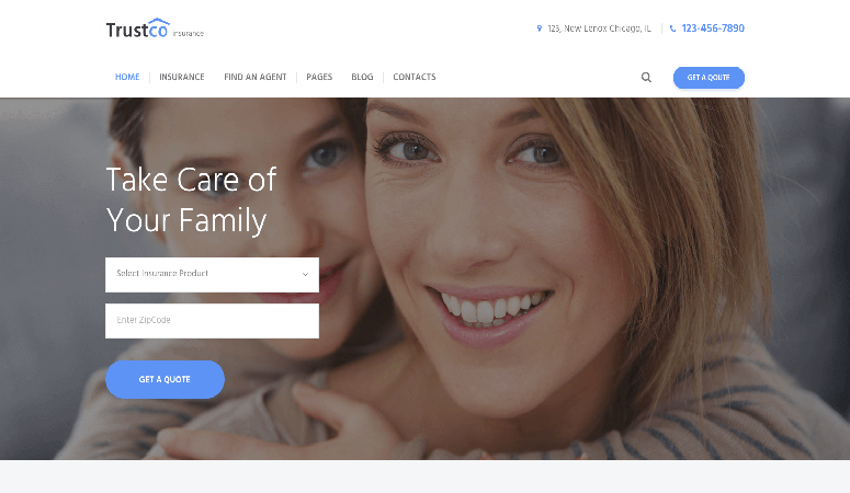 Isurance Responsive Insurance WordPress