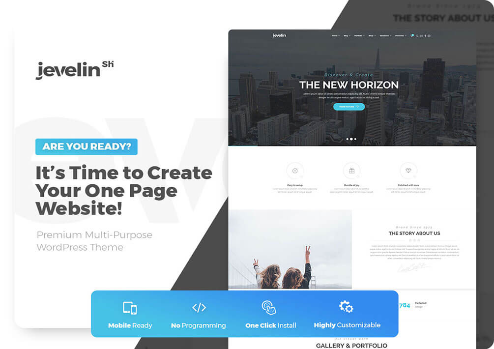 Jevelin One Page WordPress