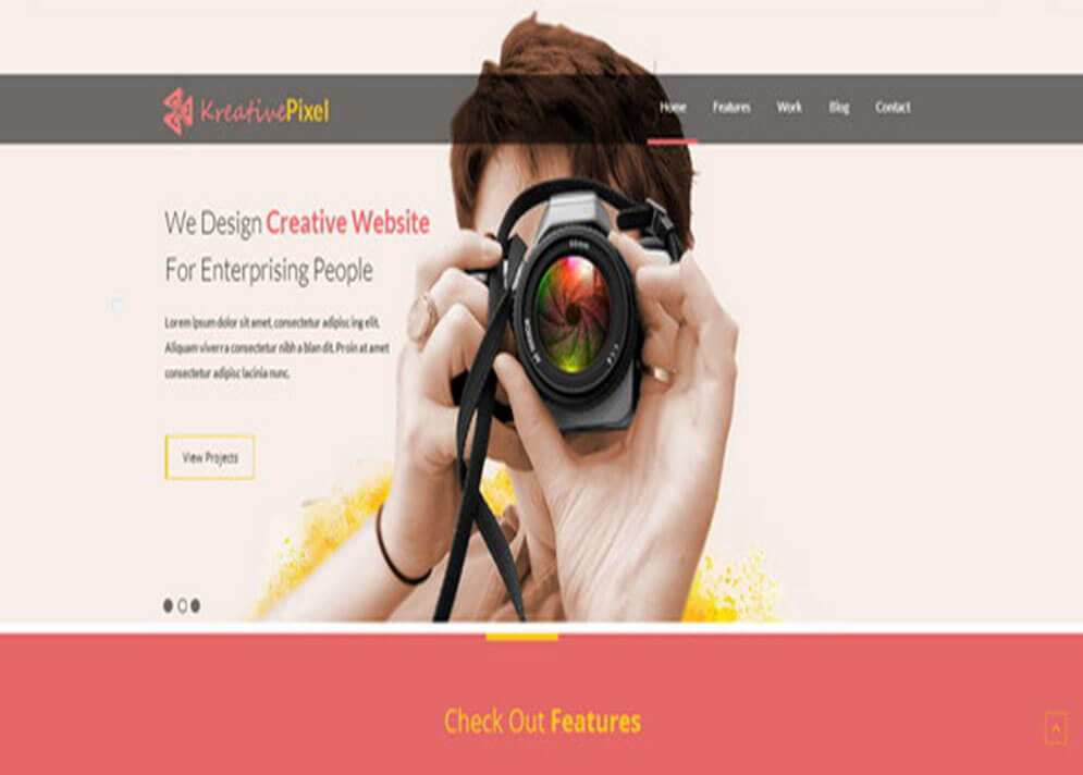 KreativePixel Website Template 1