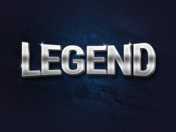Legend Photoshop Text