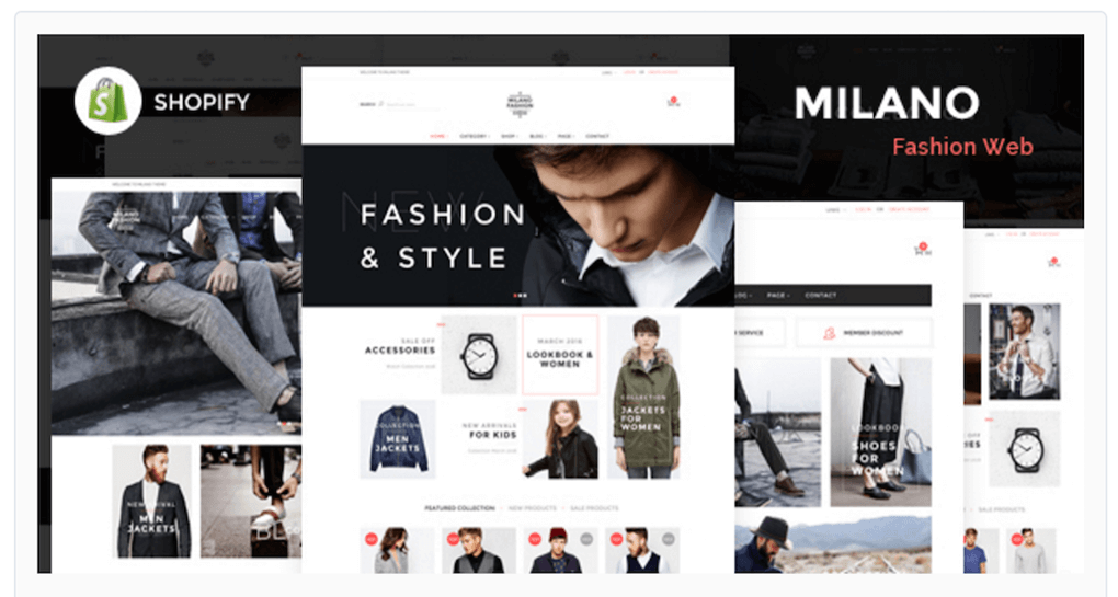 Milano Theme For Your Online
