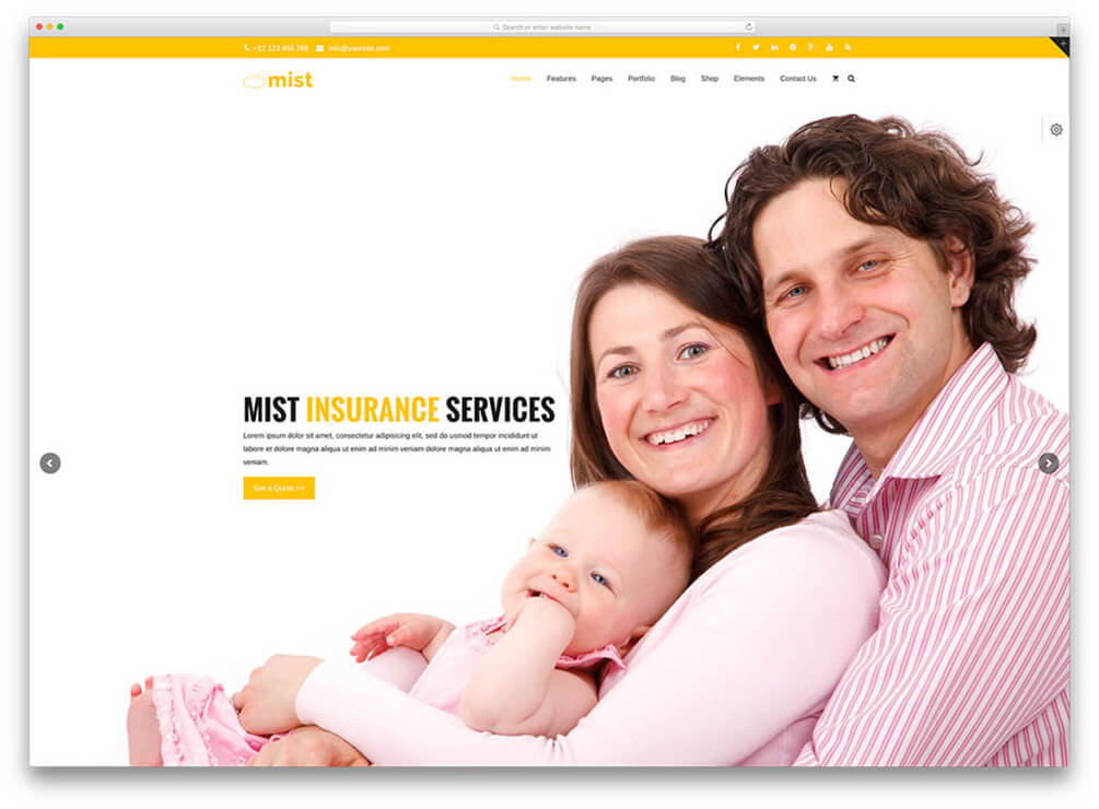 Mist Insurance WordPress