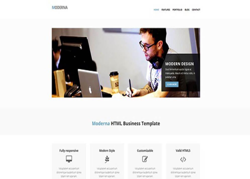 Moderna Website Template