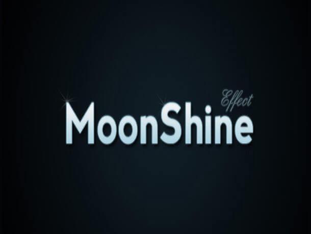 Moon Shine Photoshop Text