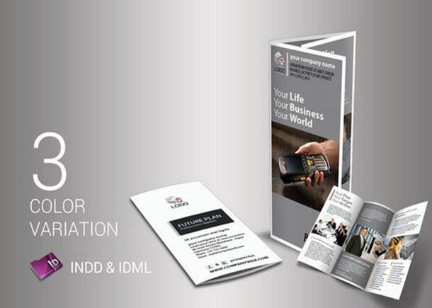 Multipurpose Business Trifold Advertising Brochure Template
