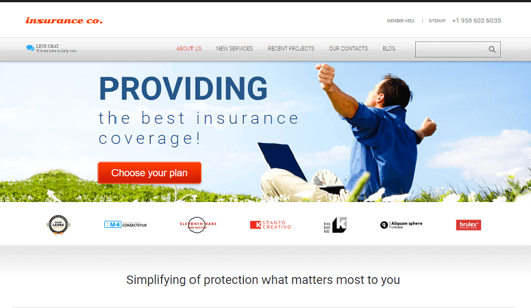 Provide Responsive Insurance WordPress