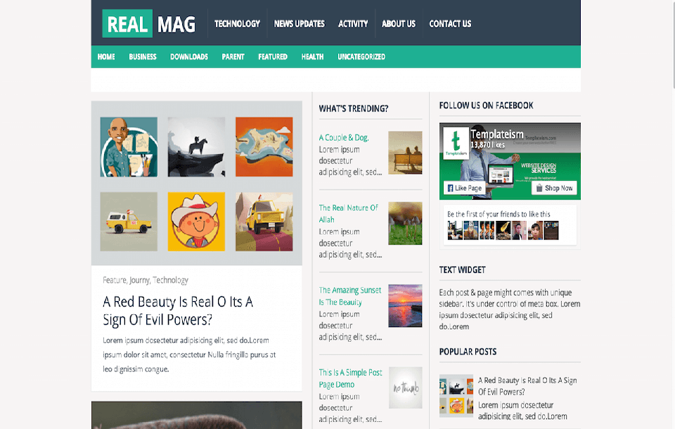 Real Mag Responsive Blogger
