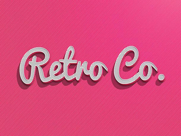Retro Co Photoshop Text Style