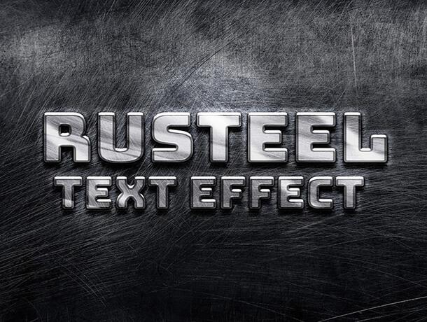 Rusteel Text Style