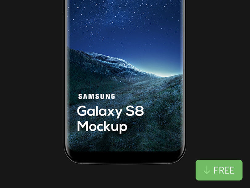 S8 Mockup Samsung Galaxy