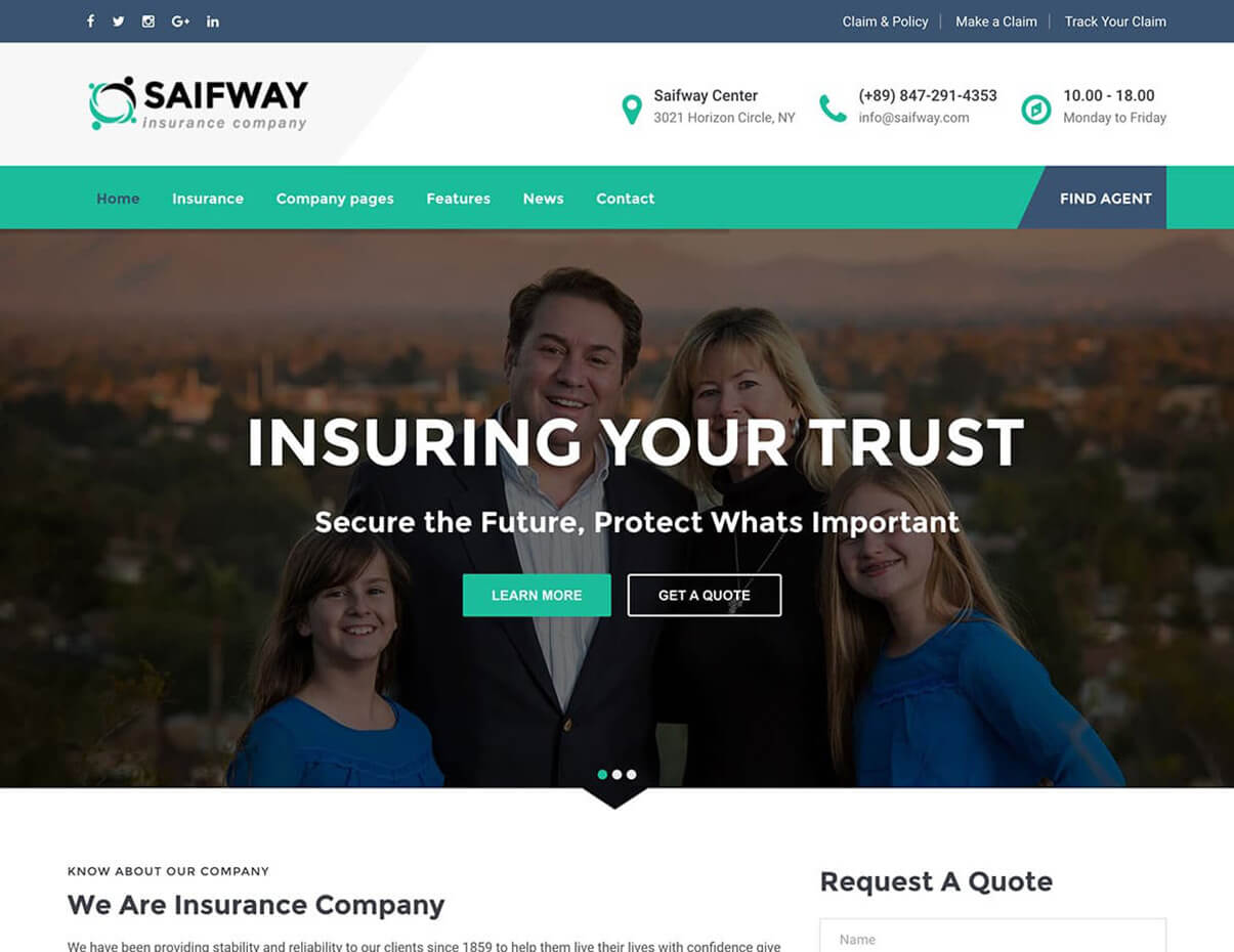 Saifway Insurance WordPress