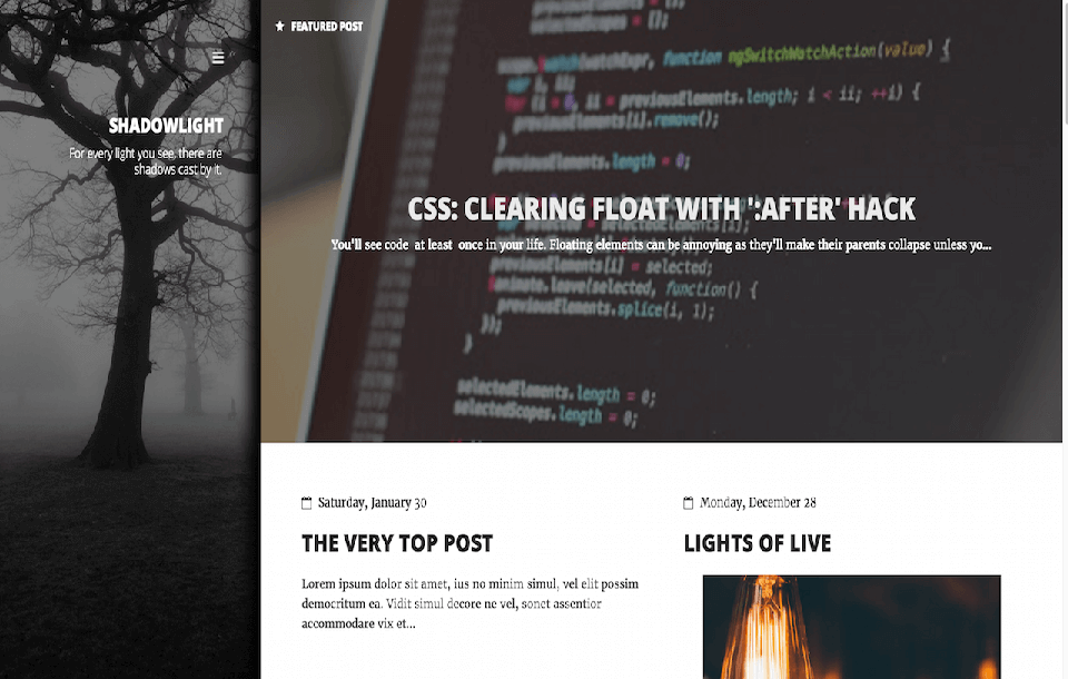 ShadowLight Free Responsive