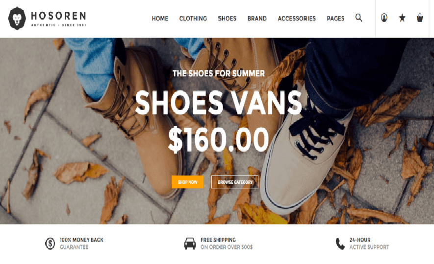 Shoes Responsive Shopify