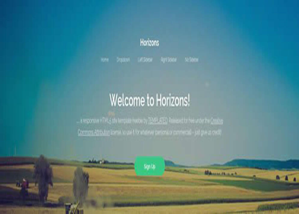 Simple CSS3 Website