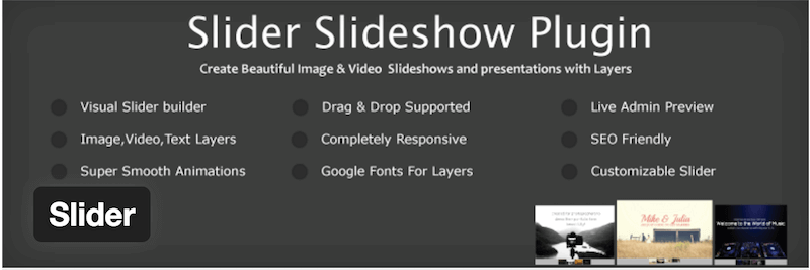 Slider Slideshow Free WordPress