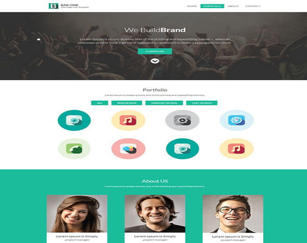 The Bak one HTML5 CSS3 Website